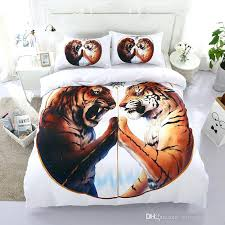 white tiger bedding sets tiger bedding set white tiger duvet cover twin queen king size bedclothes