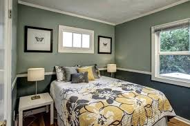 Two Color Bedroom Walls Warm Bedroom Themed With Orange Accents Wall ...