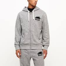 Roots Salt And Pepper Original Full Zip Hoody