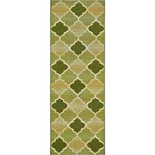 outdoor eden trellis green 2 0 x 6 39 0 runner rug