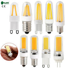Details About Dimmable Led Corn Bulb G4 G9 E12 E14 Silicone Crystal Cob Filament Lights Lamp K