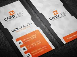 30 Free Vertical Business Card Templates Smashfreakz