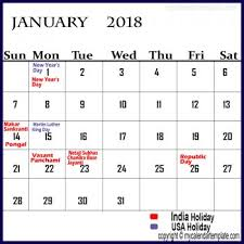 january 2018 calendar free january 2018 calendar with holidays online calendar designs