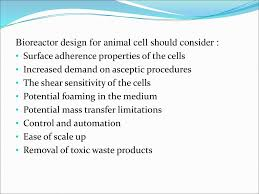 Bioreactor Design Ppt Animal Cell Bioreactor Ppt Download