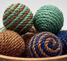 Small Decorative Balls Mesmerizing Amazon Small Sisal Rope Decorative Balls Ornament Natural Or