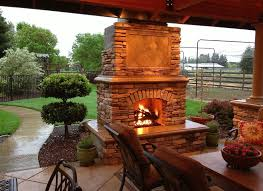prefab outdoor fireplace kits
