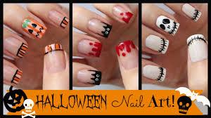 Halloween Nail Art! Three French Manicure Designs ...