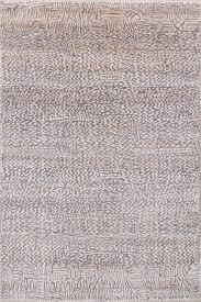 damask pattern ivory grey handknotted rug