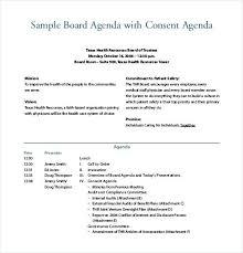 Board Meeting Consent Agenda Finance Committee Template Maker App