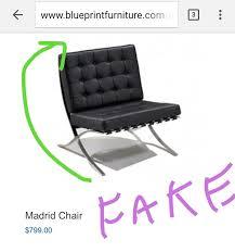 knock off barcelona chair. Buyer Beware Blueprintfurniture Sells Fake Designer Rip Offs Barcelona Chair Knock Off A