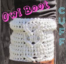 Boot Cuff Pattern Awesome Trendy Owl Boot Cuff AllFreeCrochet