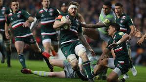leicester tigers were beaten 23 25 by a last minute score from newcastle falcons at welford road on friday evening in the final home game of the aviva