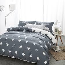 55 here bedding sets black and white star print 100 cotton regarding twin comforter idea 15