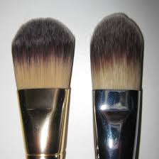 mac face brushes. mac 190se on the left, sigma ss190 right mac face brushes