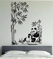 Love Wall Decor Bedroom Panda Wall Decal Panda Family Sticker Art Decor Bedroom Design