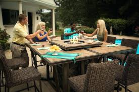 fire pit dining table. Patio Table With Fire Pit Awesome Inspiring Outdoor Dining Regard .