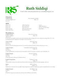 Ruth Siddiqi Graphic Design Resume