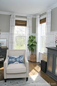 Plaid Curtains For Living Room How To Make Store Bought Drapes Look Custom From Thrifty Decor Chick