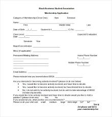 Gym Membership Form Template Membership Application Template 12 Free