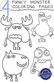 4 Funky Monster Coloring Pages Kids Activities Monsters