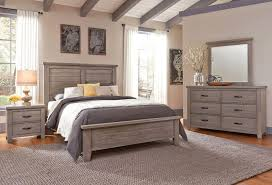 Cassell Park Panel Bedroom Set Weathered Gray Vaughan Bassett ...