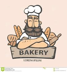 Bakery Logo Hand Drawn Vector Illustration Of Chief Cooker With A