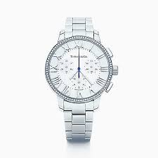shop diamond watches tiffany co new atlas® dome watch in stainless steel diamonds quartz movement