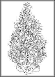 Creative Haven Christmas Tree Colouring Book At Dover Publications