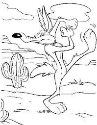 Small Picture Wile E Coyote Take a Stand to Catch Roadrunner Coloring Pages