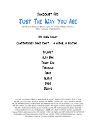 Download Just The Way You Are D 8pc Funk Rock Band Chart