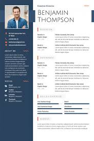 Printable Cv Templates 40 Best 2019s Creative Resume Cv Templates Printable Doc