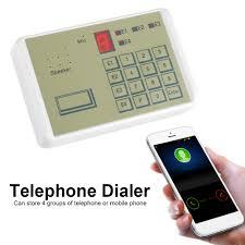 12v 20s wired telephone auto dialer burglar security home alarm system