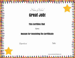 certificates of completion for kids preschool certificate templates beautiful certificate template for