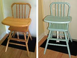 restaurant style wooden high chair. Painted Jenny Lind Antique Vintage High Chair Before And After Restaurant Style Wooden G