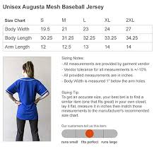Custom Name Number Unisex Augusta Mesh Baseball Jersey At