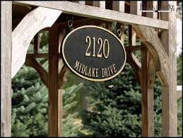 Wood Address Signs Outdoor Decor Hanging Address Signs Hanging Address Plaque Hooks Lattice 27
