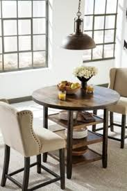 dark brown moriann counter height dining room table view 1
