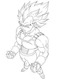 Free Vegeta Super Saiyan Coloring Pages Enjoy Coloring Animation