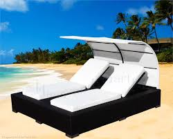 best patio double chaise lounge furniture canopy not included with regard to wicker plans 8