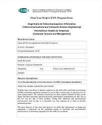 It Project Proposal Template Free Download Final Year Project Proposal Templates Doc With Template Pdf