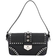 prada monochrome saffiano leather chain shoulder bag