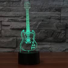 3d night light 7 colorful bedside decor novelty guitar desk l usb bedroom kids gifts sleep
