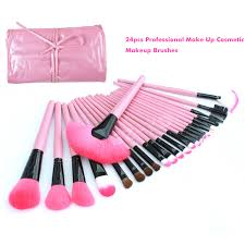 cute makeup brushes. cute pink 24pcs brush set+pouch for pro/daily make up; ideal for make up school /wedding/ party/daily up. product description: this brand new cute makeup brushes
