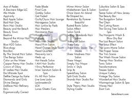 salon names catchy salon names hair salon names