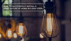 install light fixture diy
