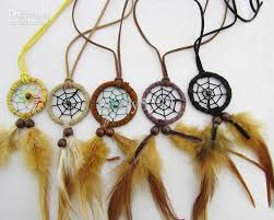 Dream Catchers Wholesale Wholesale 100 New Arrival Indian DreamerDreamcatcher Necklaces 27