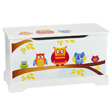 owls wooden toy box with lid new childrens furniture  ebay