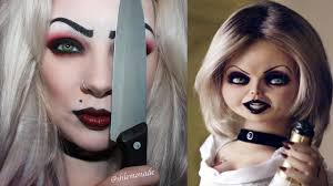 bride of chucky tiffany makeup tutorial shlemonade you