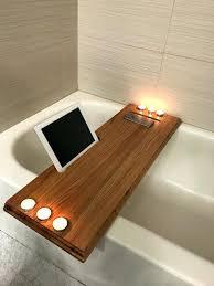 bathtub caddy amazon bath tub tray wood