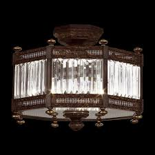 fine art lamps 584640 eaton place semi flush mount crystal ceiling fixture